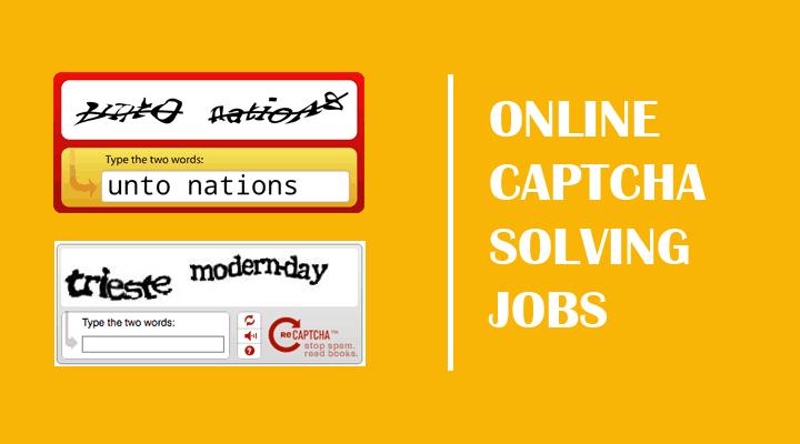 Captcha Typing Job